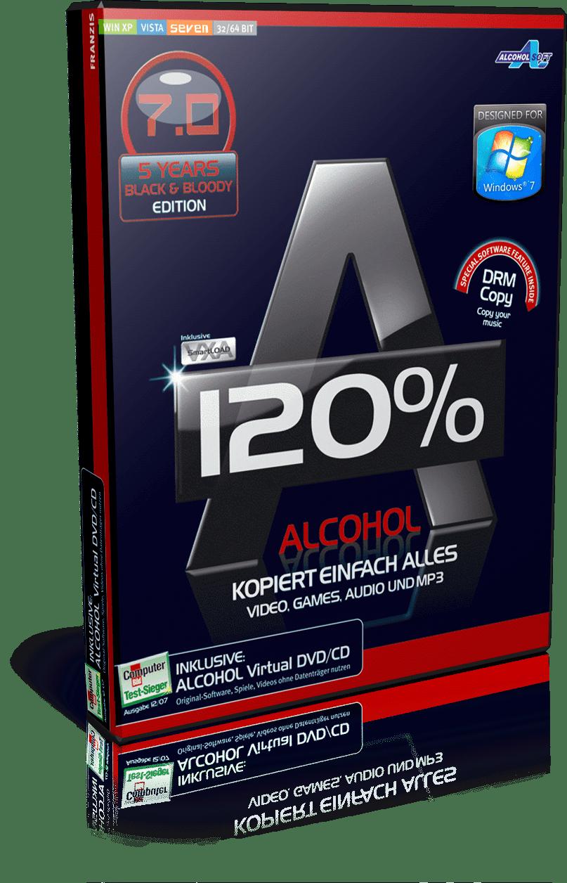 Alcohol 120 Build 10521 Full Version Crack, Serial Key