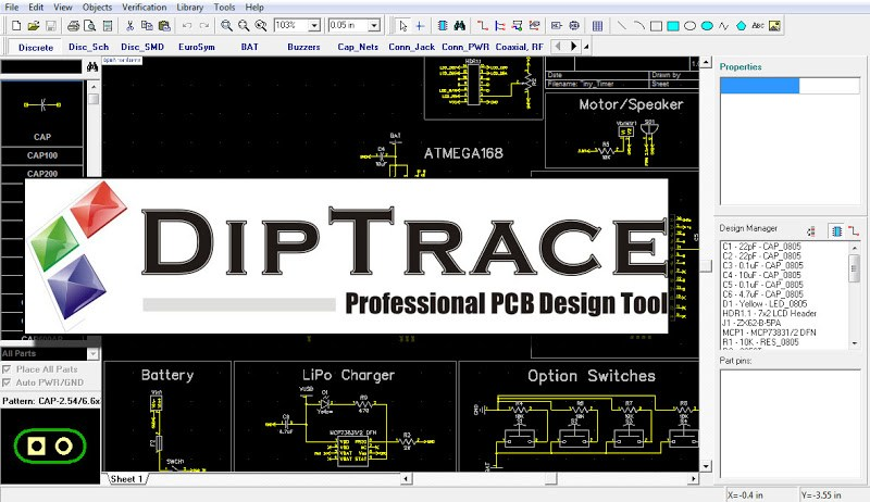 DipTrace Full Crack 3.1.0.1 With Registration Number Download
