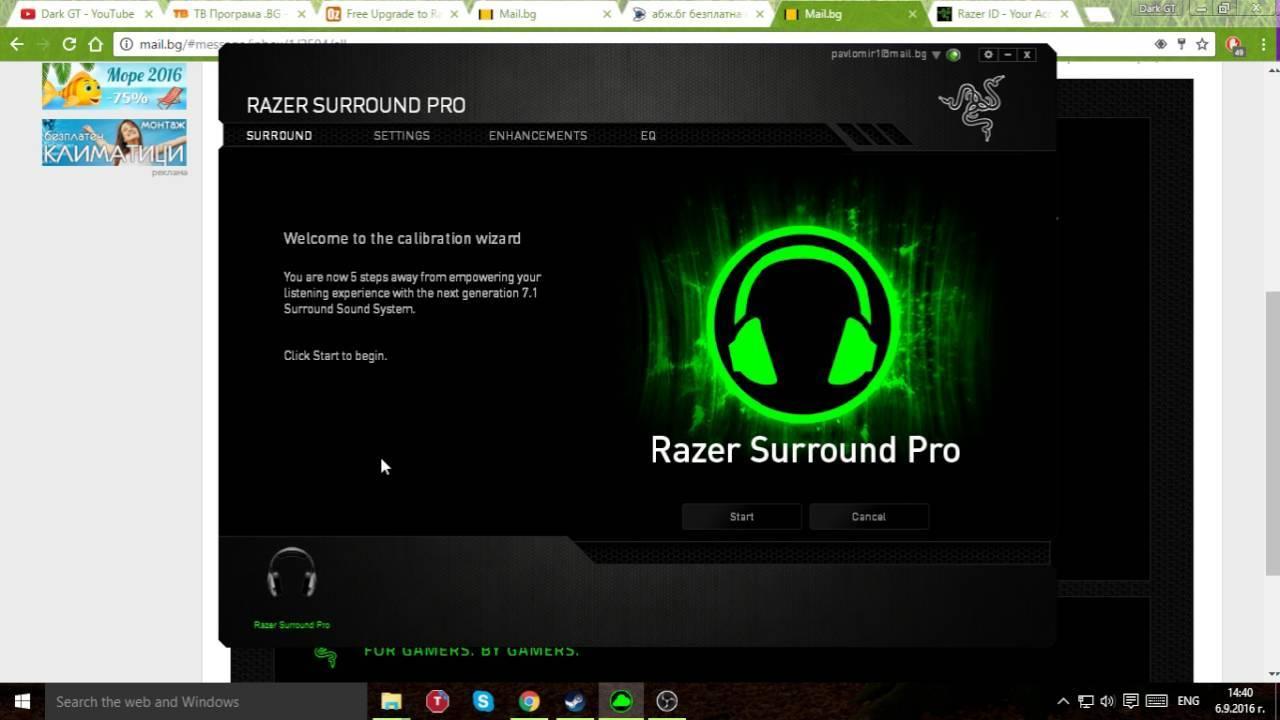 Razer Surround Pro 7.1 Crack Latest Version 2019 Download